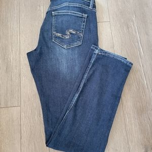Ladies Silver boyfriend low rise jeans 👖